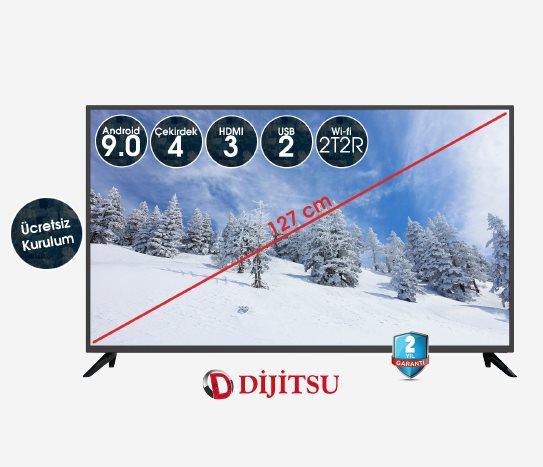 Bim Dijitsu 50 Inç Uydu Alıcılı Smart TV