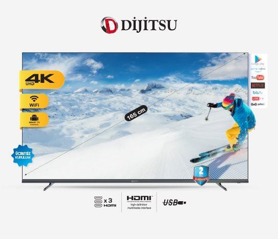 Bim Dijitsu 65 Inç Uydu Alıcılı Smart LED TV