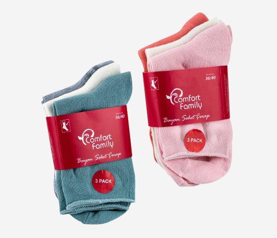 Bim 3' lü Soft Çorap Kadın