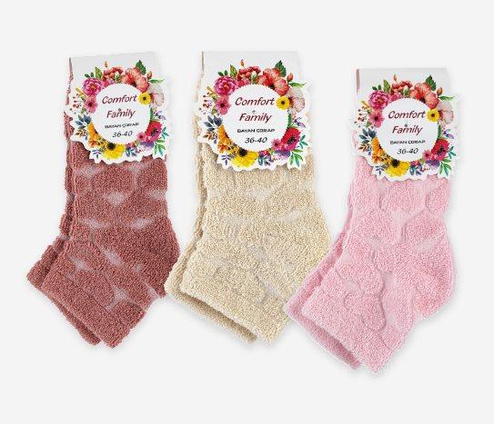 Bim Ters Havlu Patik Çorap Kadın