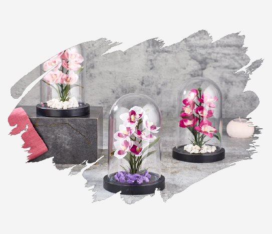 Bim Fanusta Dekoratif Çiçek