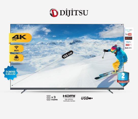 Bim Dijitsu 65 Inç Smart LED TV Uydu Alıcılı