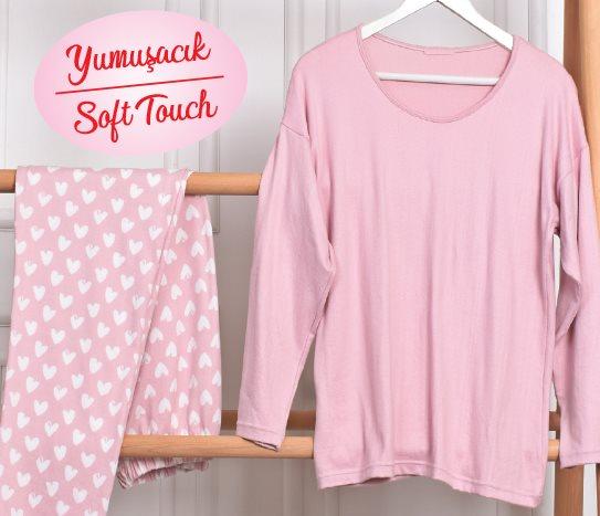 Bim Casilli Yumuşak Kumaş Kadın Pijama Takımı