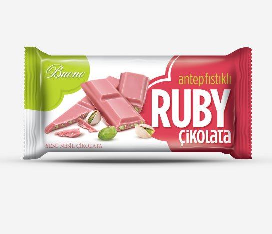 Bim Antep Fıstıklı Ruby Çikolata